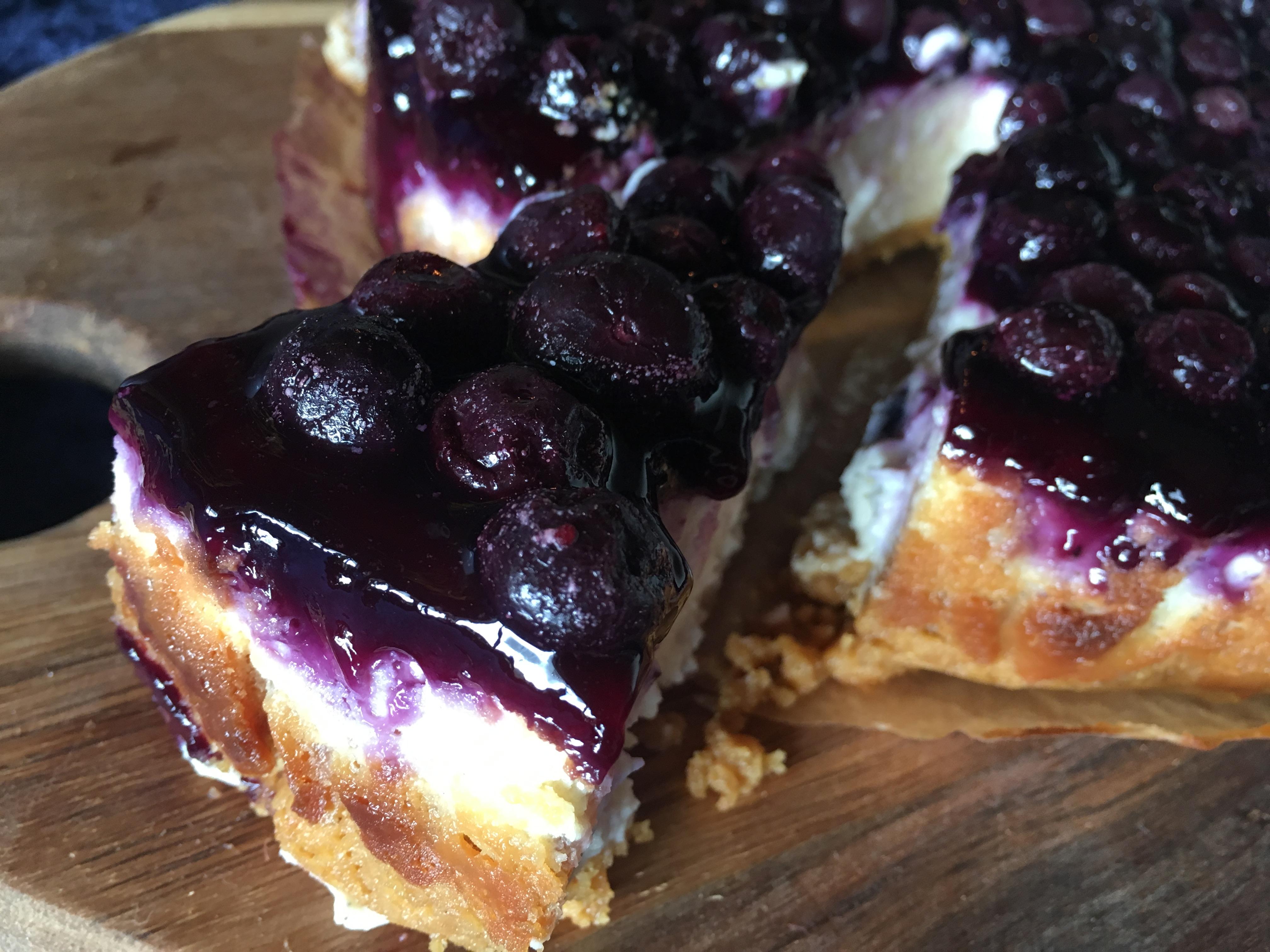 Blåbær cheesecake – gluten- og laktosefri