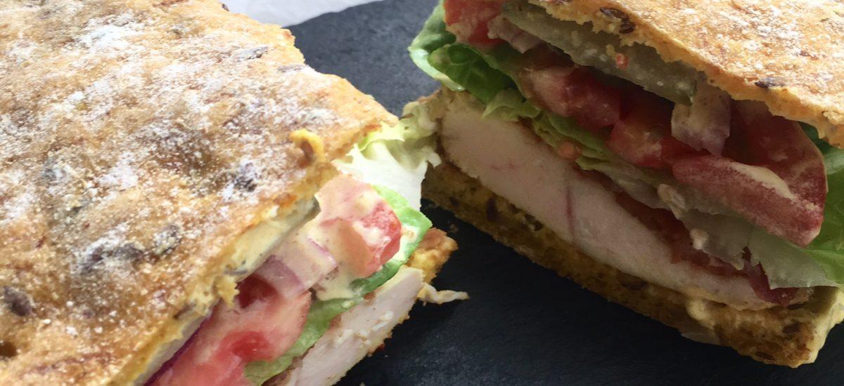 Glutenfri sandwichbrød med gulerødder, frø og kerner